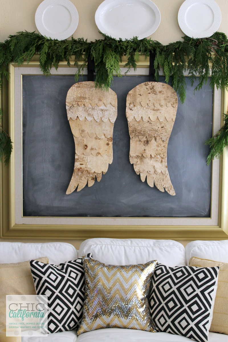 Birch Angel Wings from Chic California- Christmas Decor