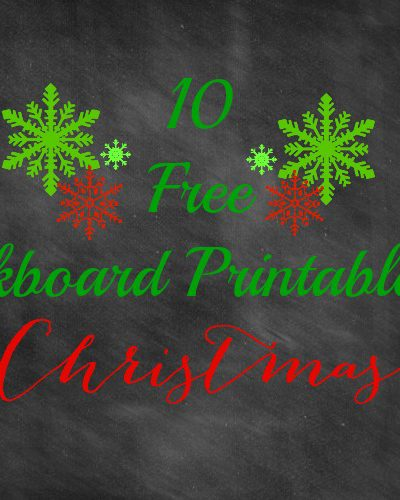 10 Free Chalkboard Printables for Christmas