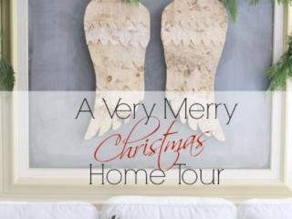Modern farmhouse style christmas home tour