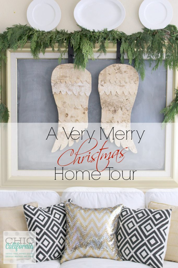 Modern farmhouse style christmas home tour