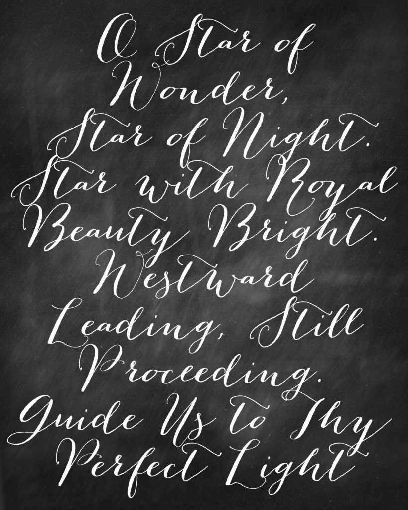 Star of Wonder Christmas Printable