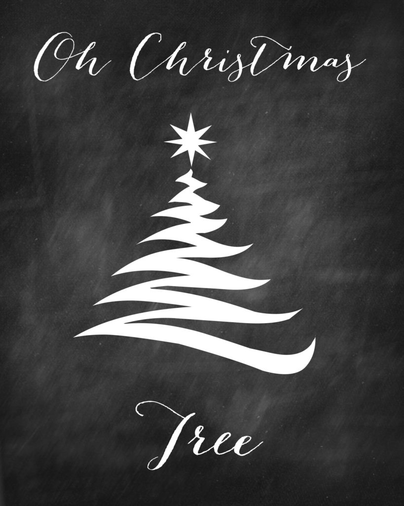 Oh Christmas Tree Free Printable