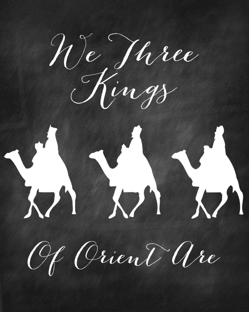Free Chalkboard Printables for Christmas