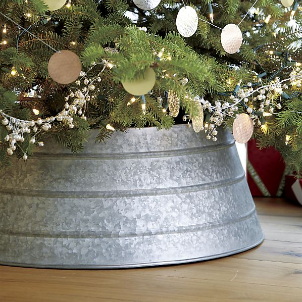 How to Make a C&B Inspired Galvanized Christmas Tree Collar for Less ...