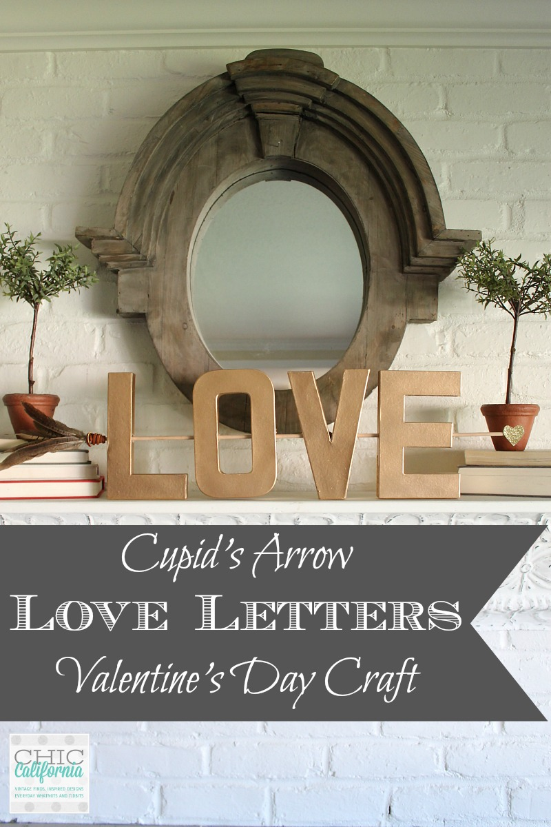 Cupid's Arrow Love Letters Valentines Day Craft