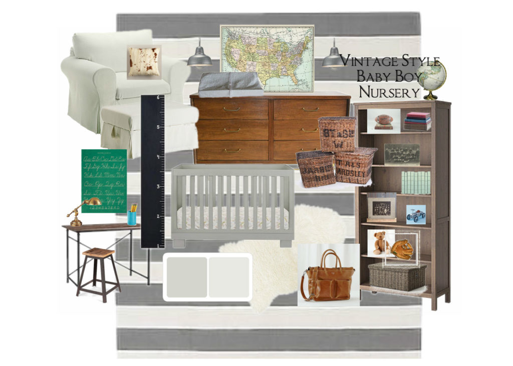 Vintage Style Baby Nursery Mood Board by Chic California