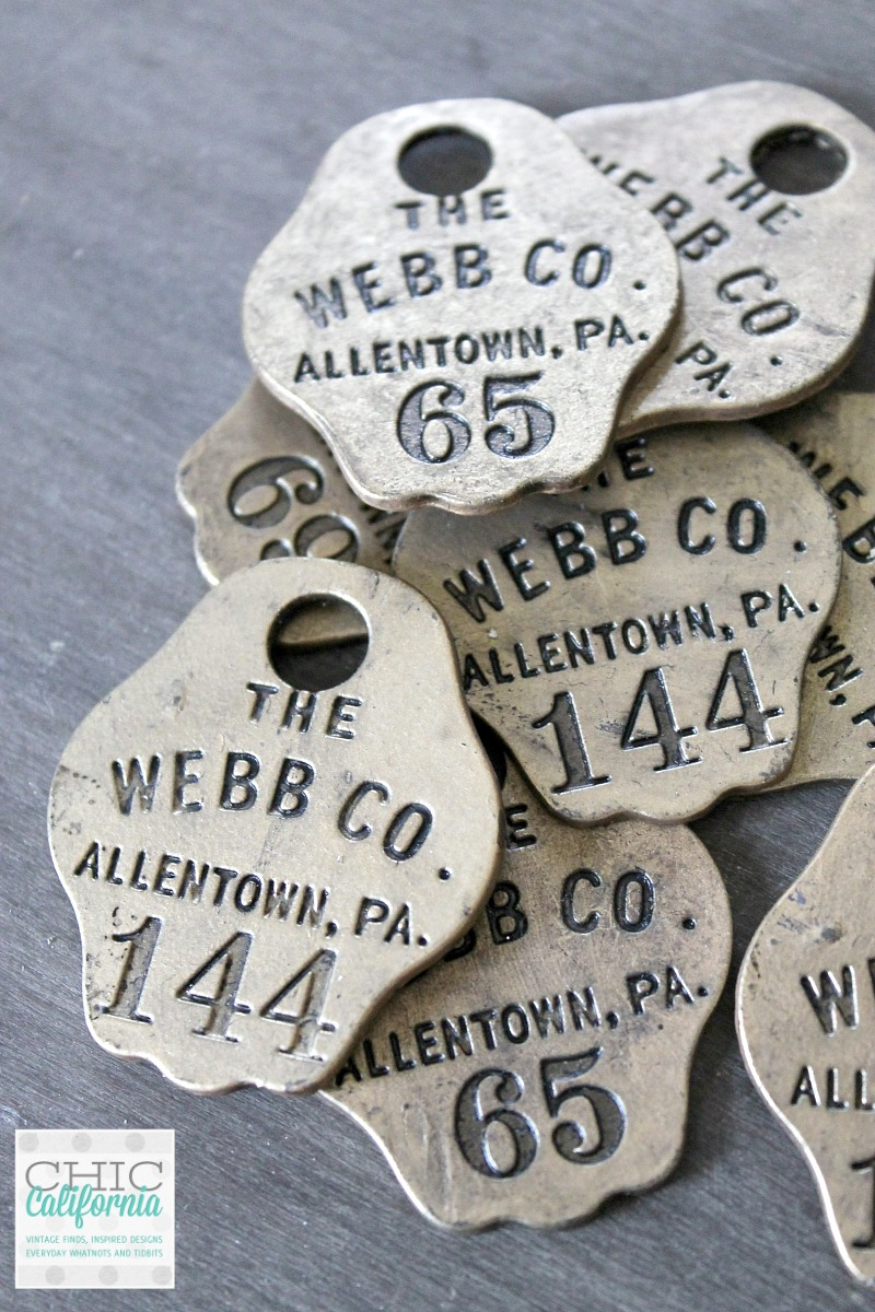 Vintage Pewter Tags