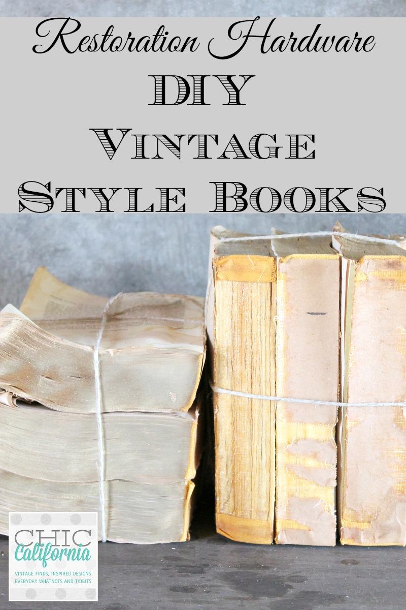Restoration Hardware DIY Vintage Style Books