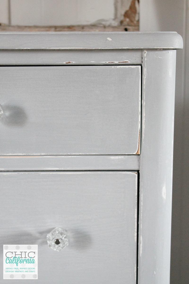 Gray Milk Paint Dresser