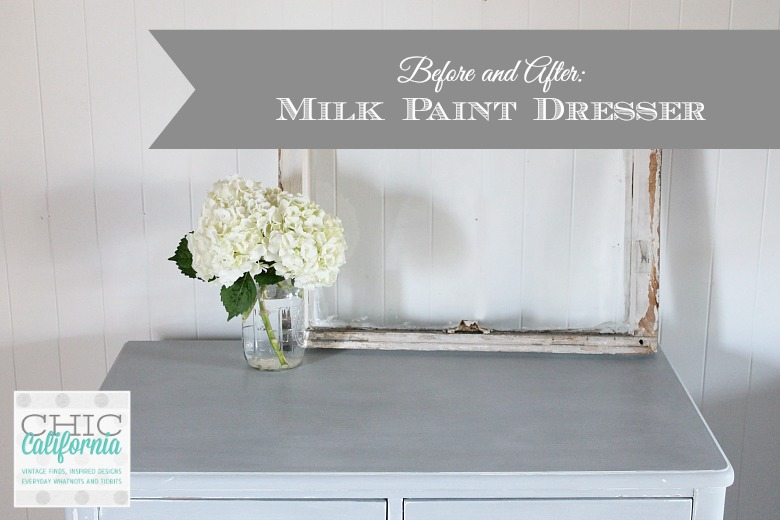 Before and After: Milk Paint Dresser in Galvanized
