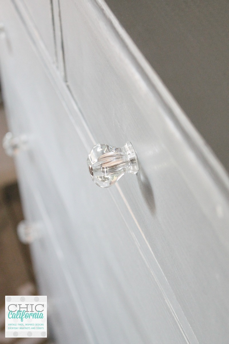 Glass Knob on dresser