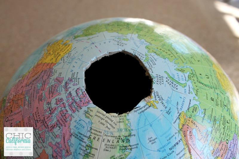 top of globe
