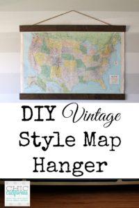 DIY Vintage Style Map Hanger