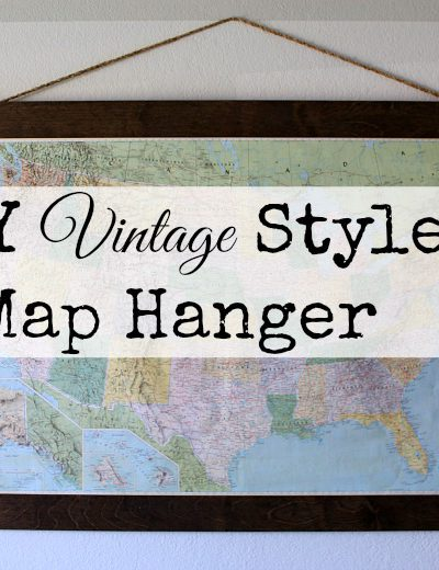 DIY Vintage Map Hanger