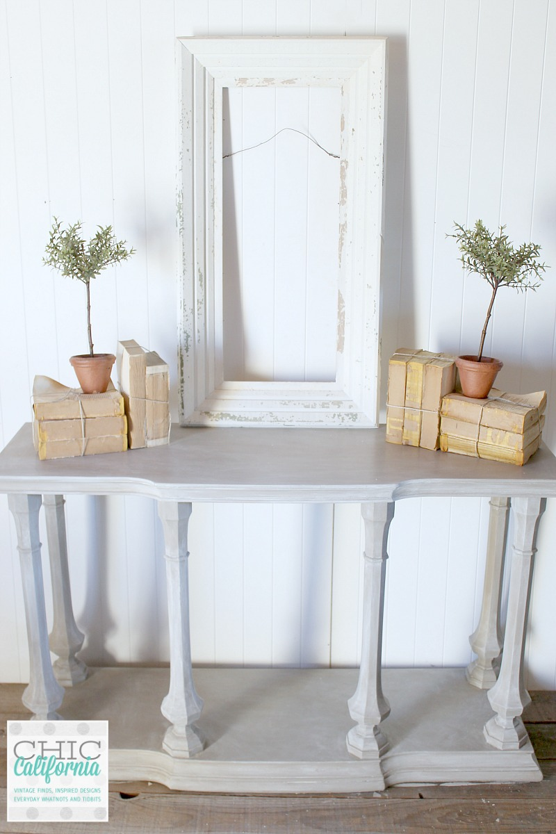 Restoration Hardware Style Weathered Wood Console Table