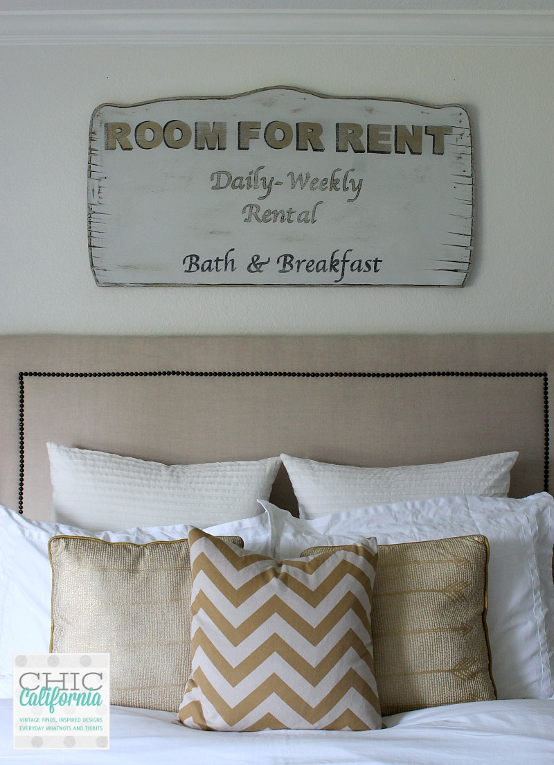 Vintage Room For Rent Sign Tutorial from Chic California