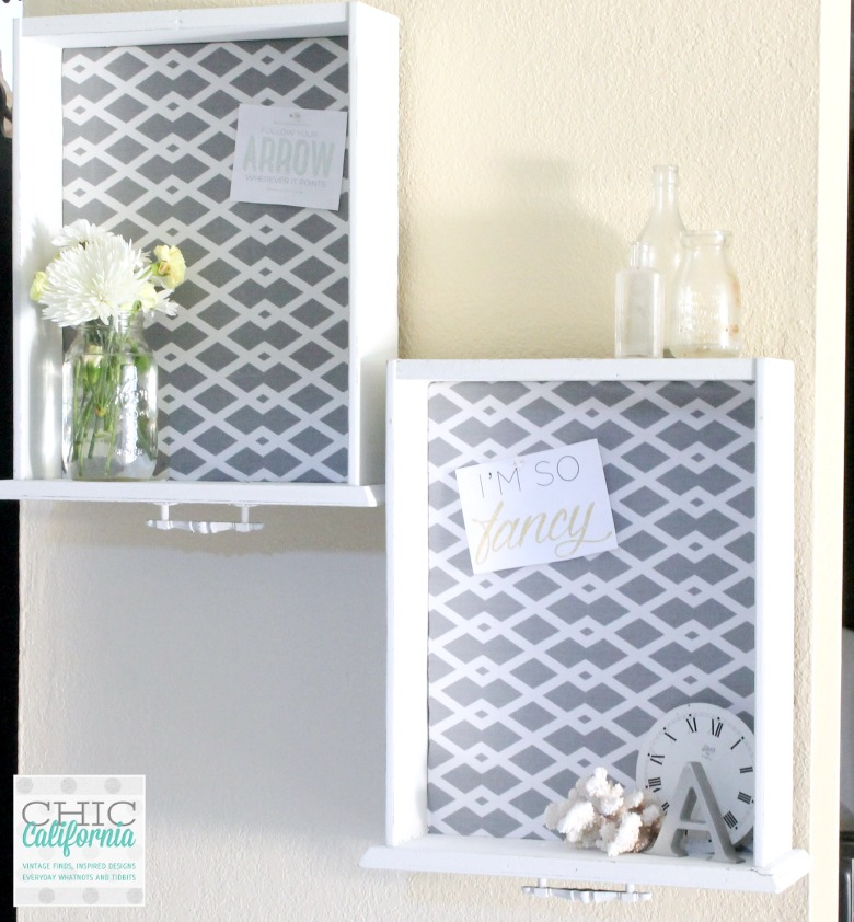 DIY Fabric Bulletin Board from a Thrift Store Drawer