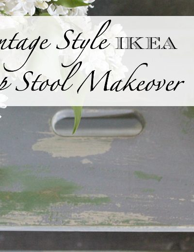 Ikea step stool with layered paint