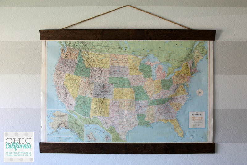 DIY Vintage Map Hanger - adrienne elizabeth on map mirror, map skirt, map accessories, map of downtown denver rtd, map bag, map scrapbook, map chair, map hwy 224 clackamas 32nd, map plastic,