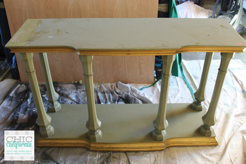 ugly green console table