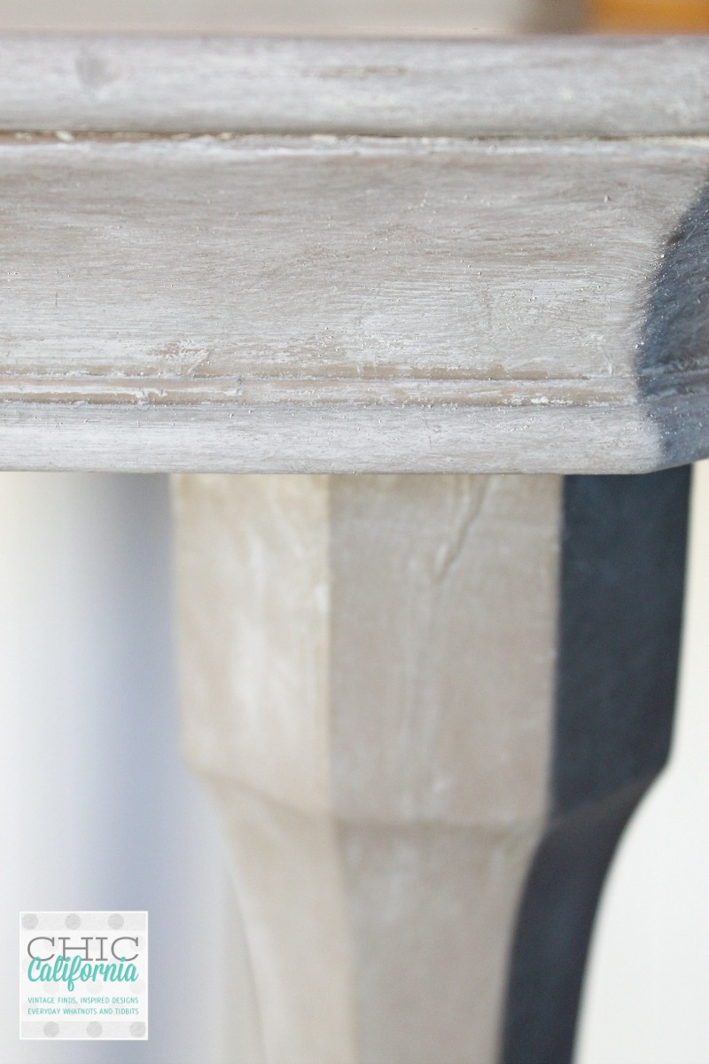 weathered oak side table