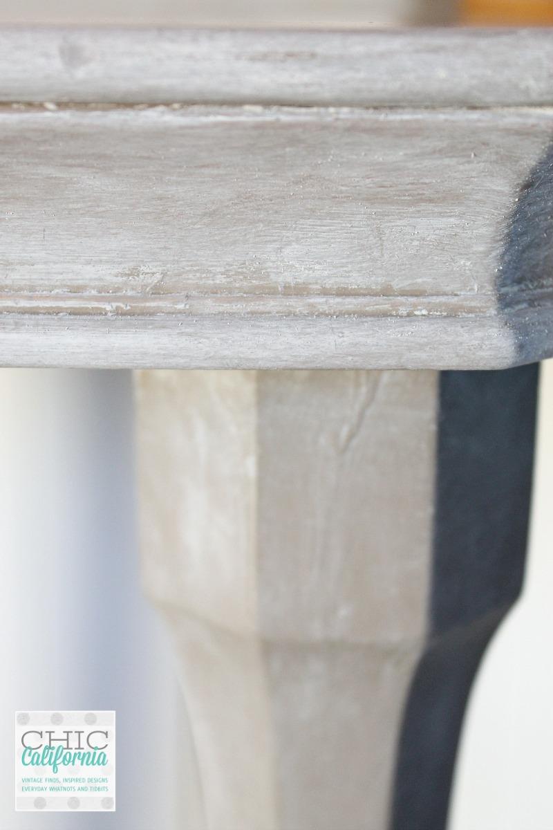 weathered oak side table