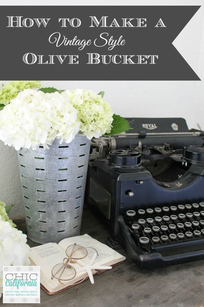 How to make a vintage style olive bucket