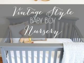 Vintage Style Baby Boy Nursery
