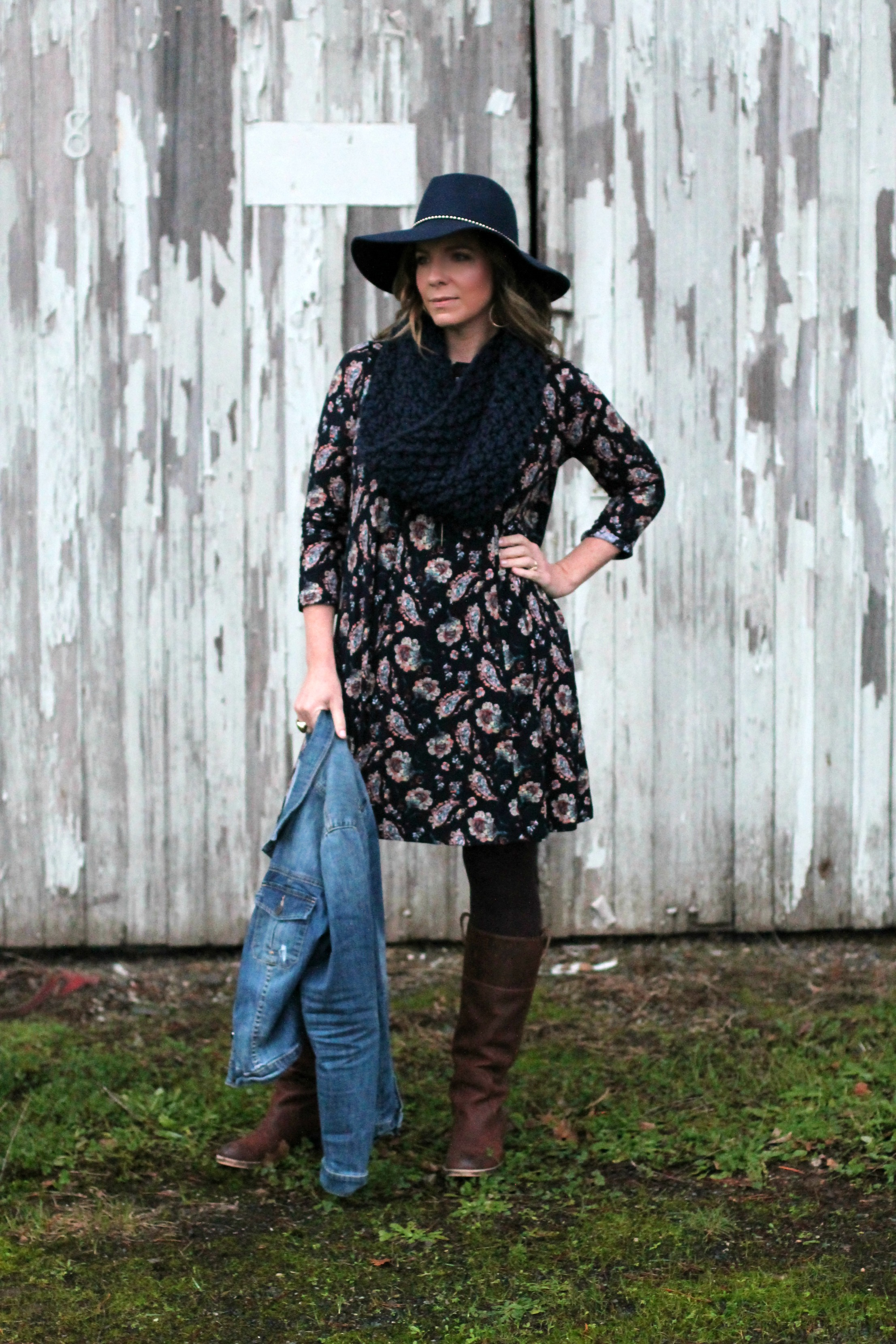 Boho Chic Winter Look