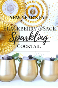 New Year's Eve Blackberry and Sage Cocktail