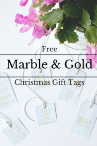 Free Printable Marble & Gold Gift Tags