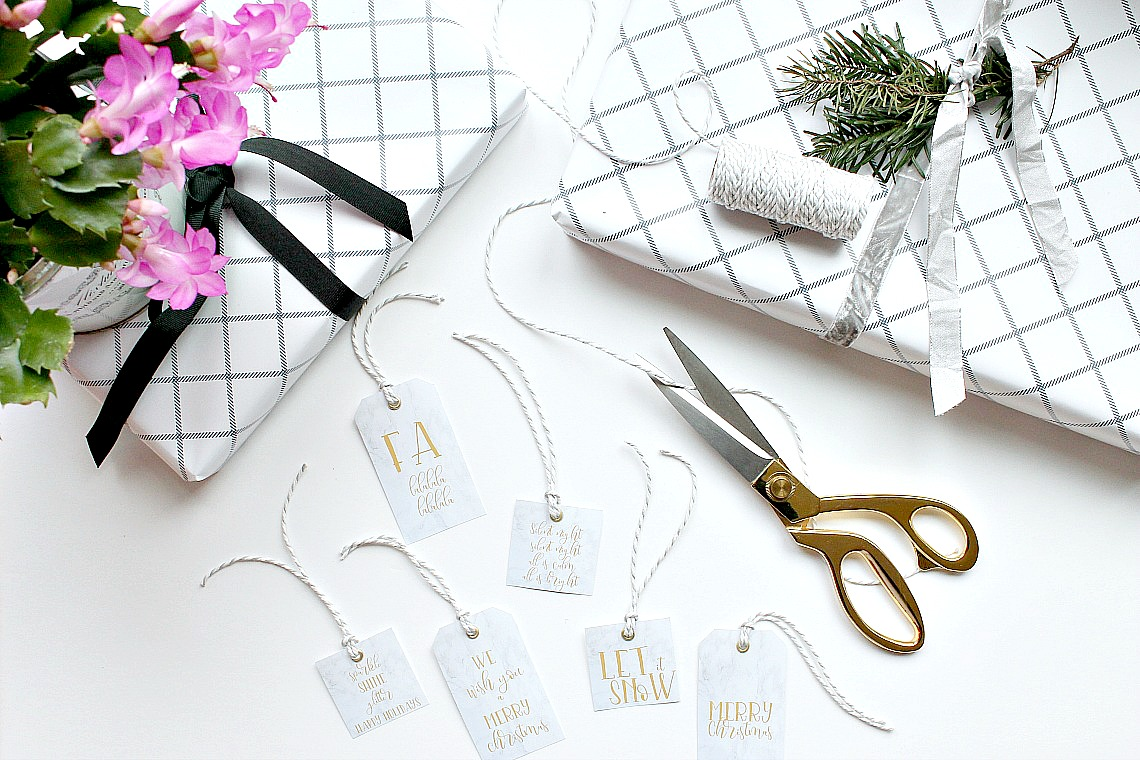 Marble and Gold Gift Tags