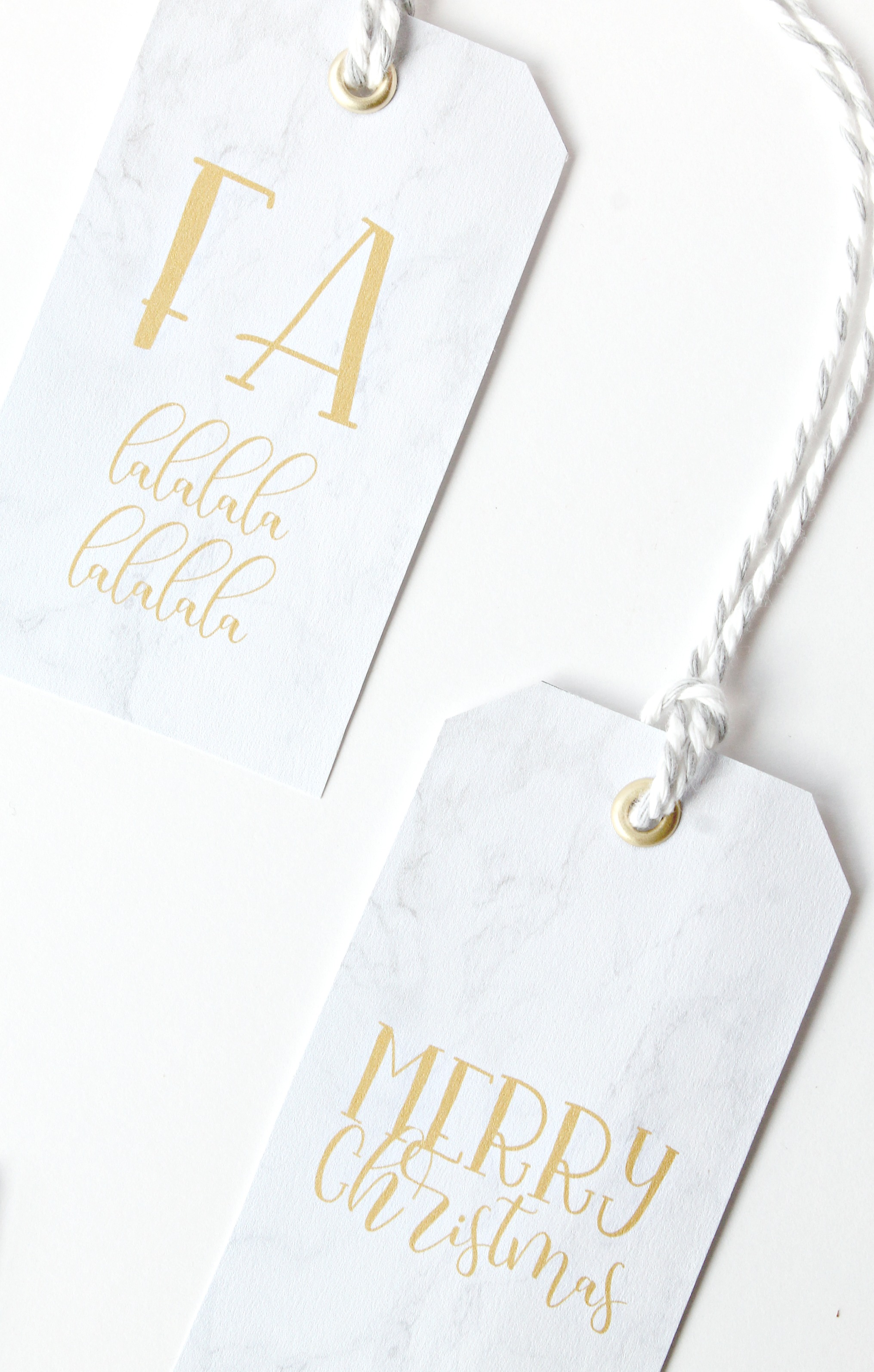 Free Marble and Gold Gift Tags