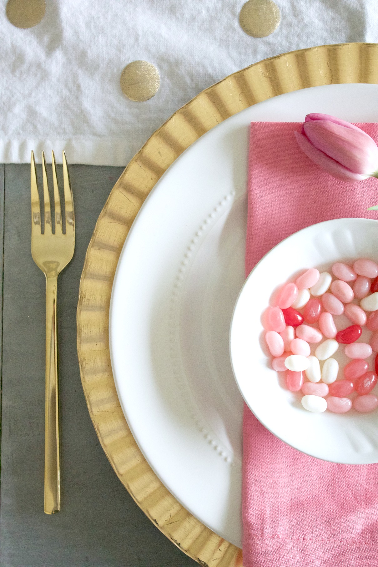Pink And Gold Table Setting Adrienne Elizabeth