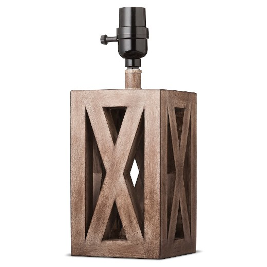 Washed Wood Box Lamp