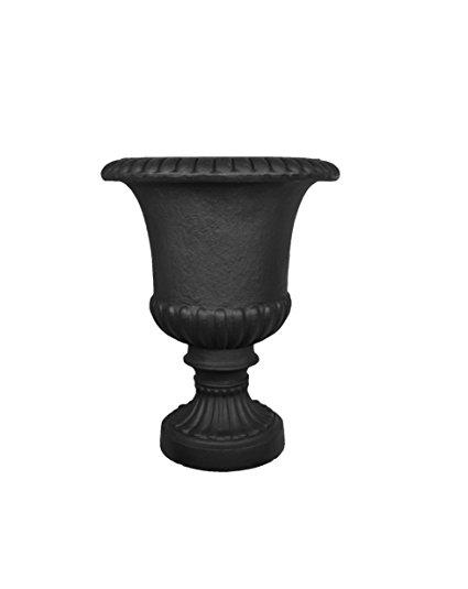 Black Urn Garden Planter