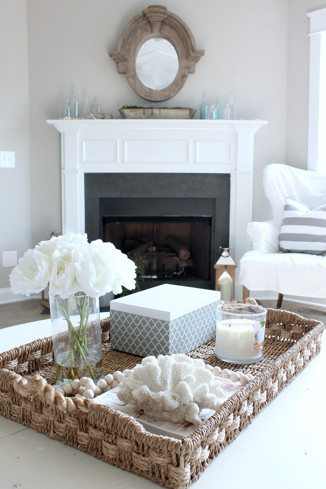 Summer Home Tour Fireplace
