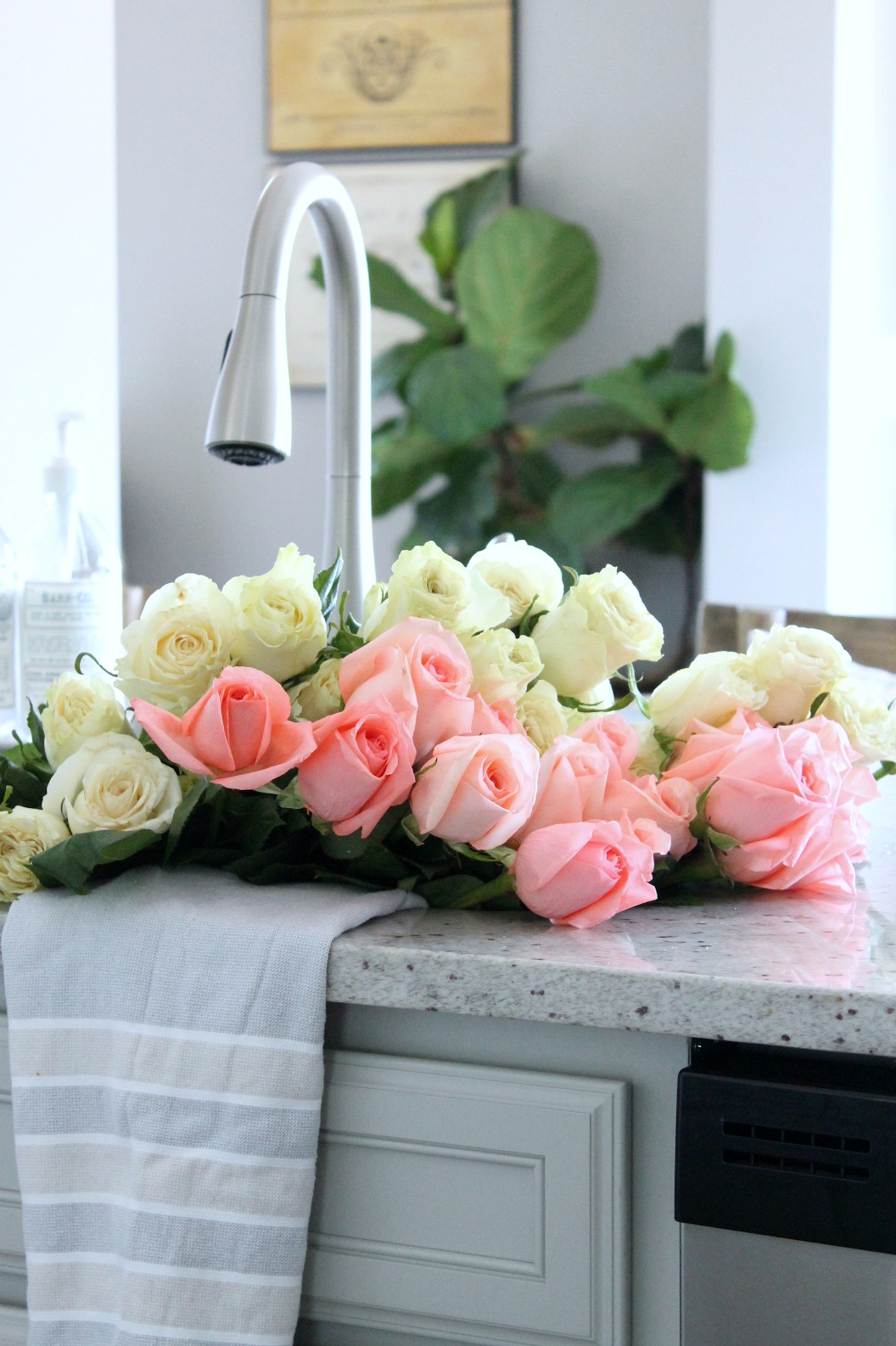 Summer Home Tour Kitchen Roses