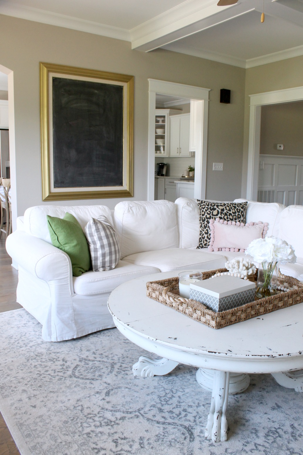 Summer Home Tour White Couch