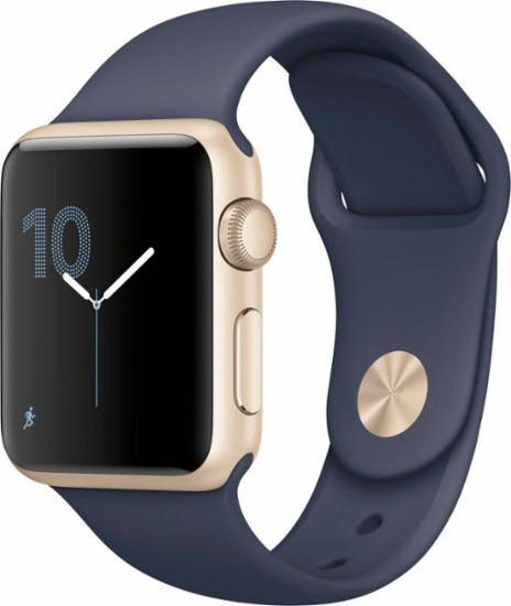 Navy Blue and Gold Apple Watch