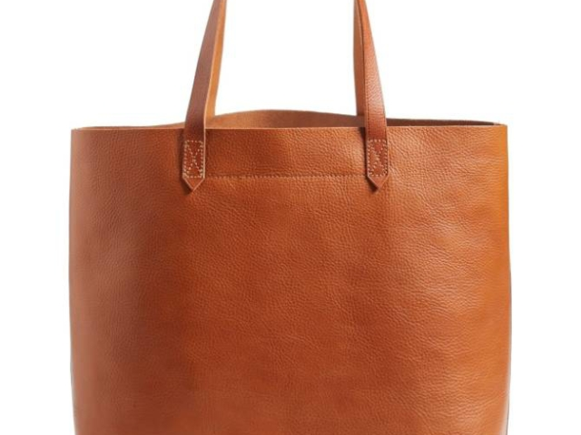 Medal leather tote