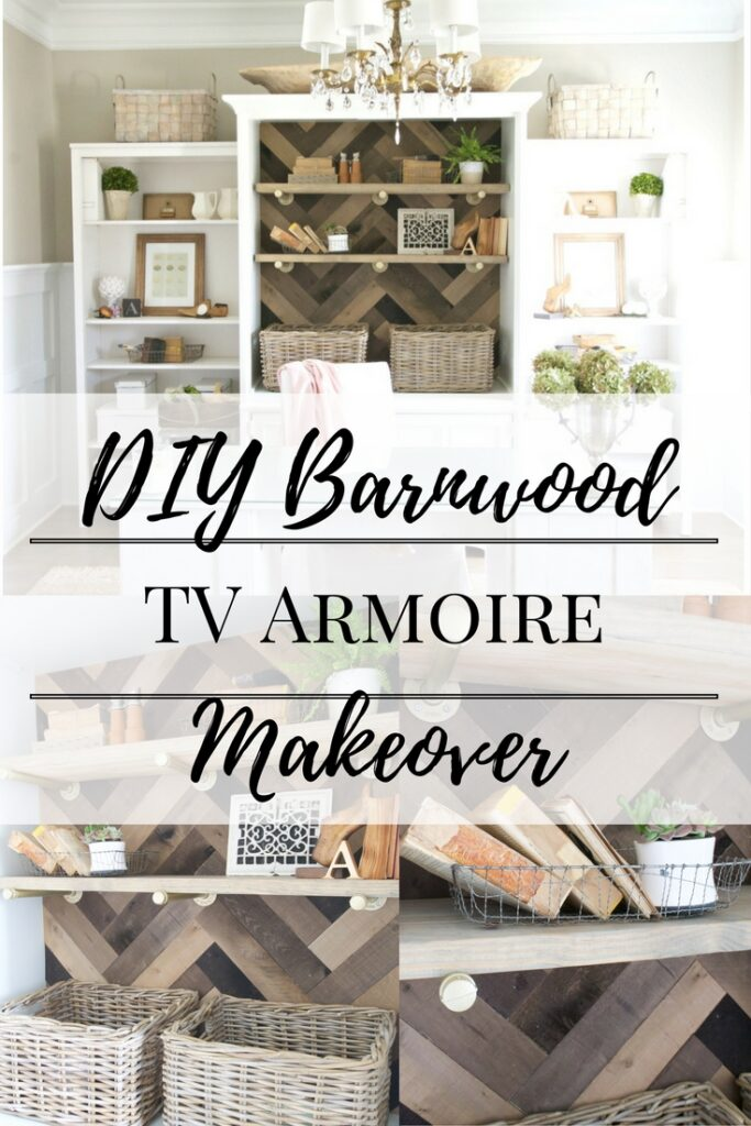 DIY Barnwood TV Armoire Makeover