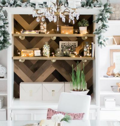 Light and Bright Holiday Home Tour: Office Decor