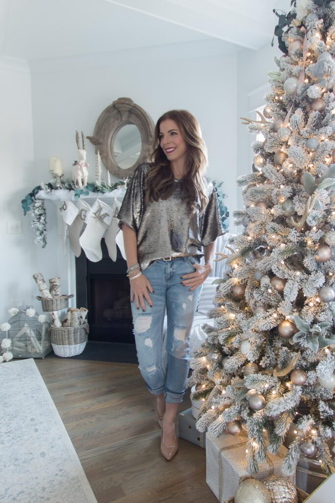 The Best Sequin Tops for New Years Eve | You can't go wrong with sequins for going out | AE Home Style Life | Chic California
