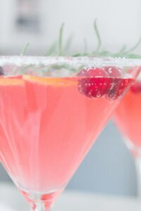 Sugared Cranberry Vodka Fizz _020