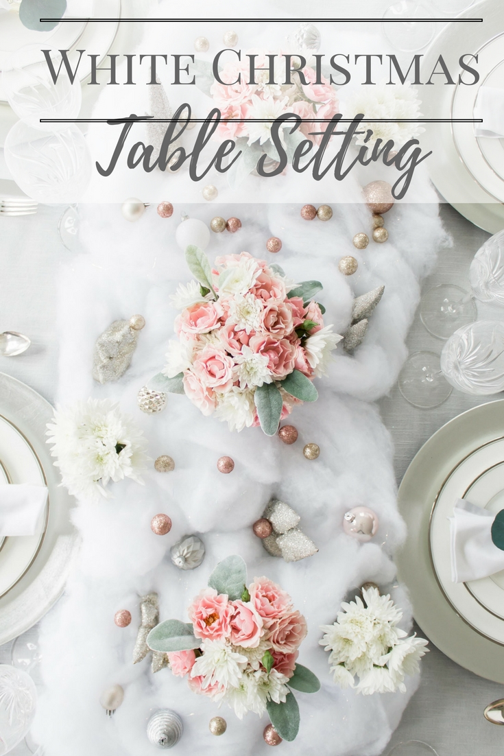 I'm Dreaming of a White Christmas Home Tour 2017   Part IV Family Room Decor   Light and Bright Modern Farmhouse Style Christmas Table Decor  AE Home & Style
